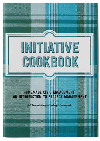 "Mockup photo of cover of the publication ""Initiative Cookbook"""