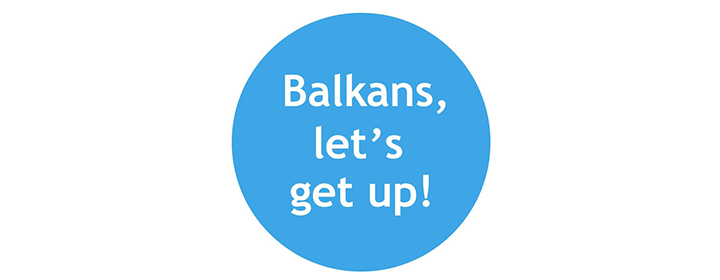 "Logo of the project ""Balkans, let's get up!"""