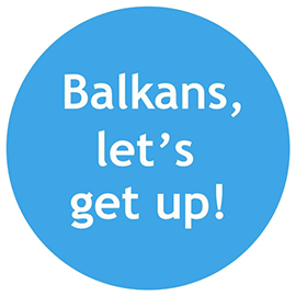 "Logo of the program "" Balkans, let's get up!"""
