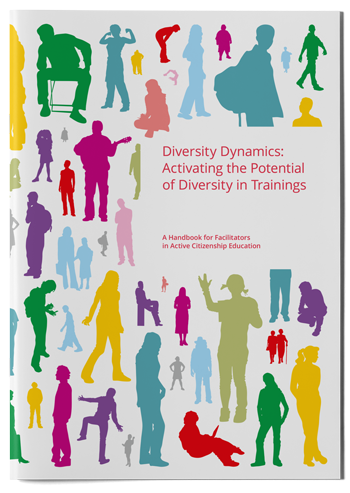 "Mockup photo of cover of the publication ""Diversity Dynamics"""