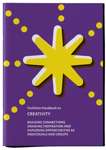 "Mockup photo of cover of the publication ""Creativity Handbook"""