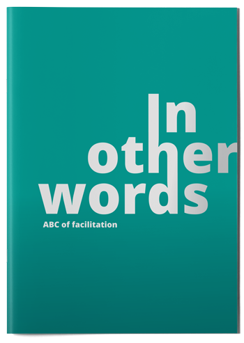 "Cover mockup of the publication ""In other words"""